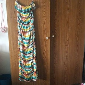 Trixxi Striped Maxi Dress